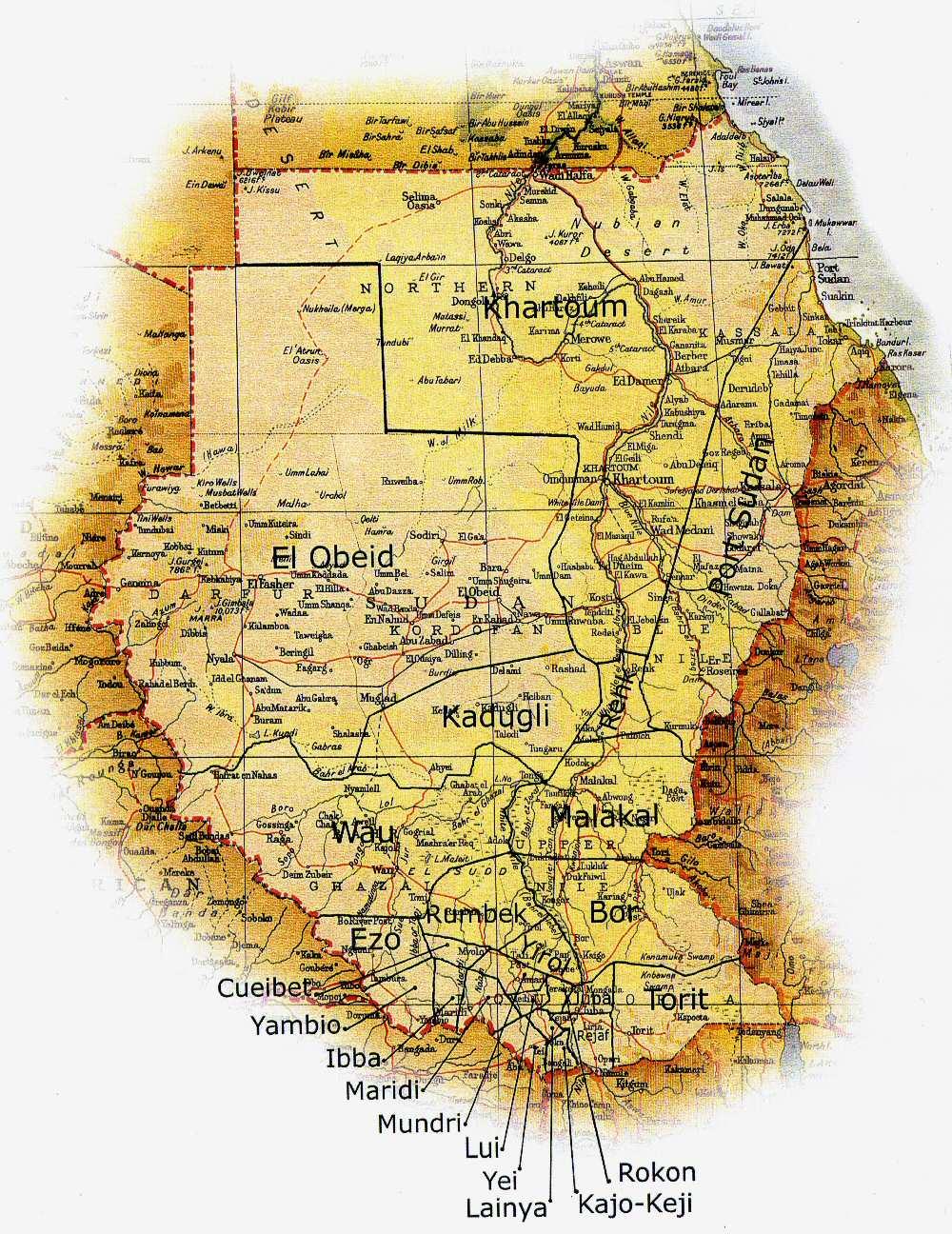 Full Size Map Of Sudan - Map of sudan